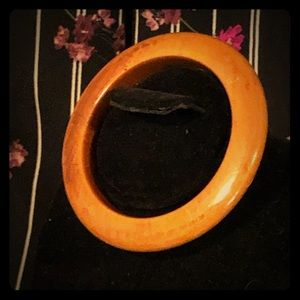 Vintage Glossy Finish Wood Bangle